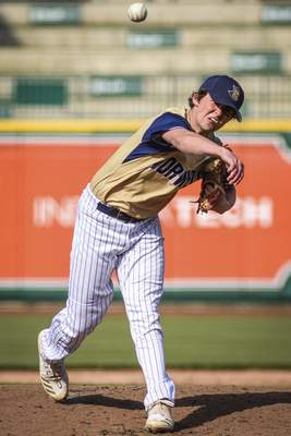Mike Moore | The Journal Gazette Norwell pitcher Lleyton Bailey pitches in the third inning against Snider at Parkview Field on Thursday.