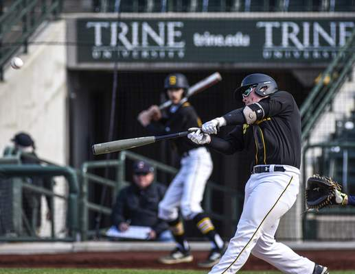 Mike Moore | The Journal Gazette Snider third baseman Blake George hits a home run in the fourth inning against Norwell at Parkview Field on Thursday.