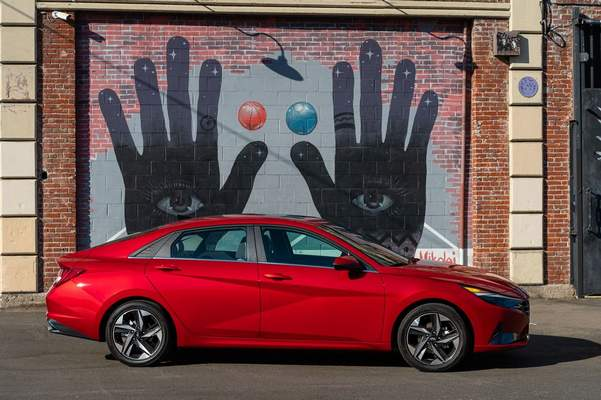 Courtesy Hyundai: Base Elantra models start at just $19,650 and came to just $25,400 well-equipped, reviewer Casey Williams says.