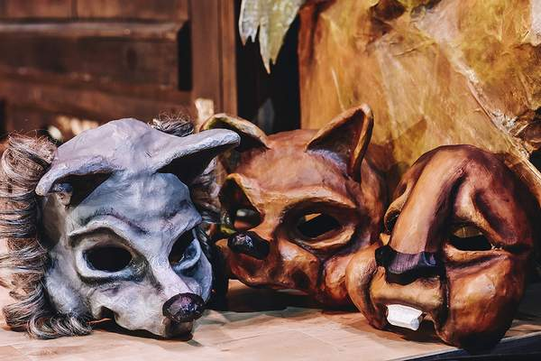 Animal masks for the production were made by Youtheatre artistic and executive director Todd Espeland who led sessions on mask work with the cast.
