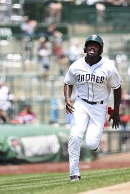 Katie Fyfe | The Journal Gazette  TinCaps outfielder Dwanya Williams-Sutton will return to Fort Wayne after leading the Midwest League in OBP in 2019.