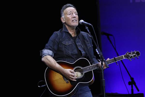 FILE - Bruce Springsteen performs at the 13th annual Stand Up For Heroes benefit concert in support of the Bob Woodruff Foundation in New York on Nov. 4, 2019. (Photo by Greg Allen/Invision/AP, File)