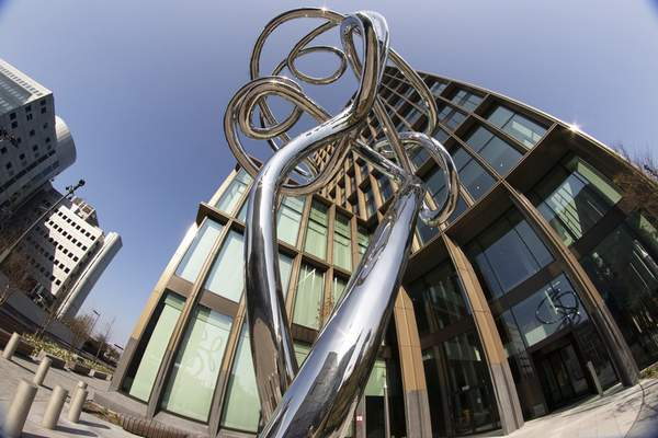 FILE - In this file photo dated Tuesday, April 20, 2021, exterior view of the European Medicines Agency, EMA, in Amsterdam, Netherlands. (AP Photo/Peter Dejong, FILE)