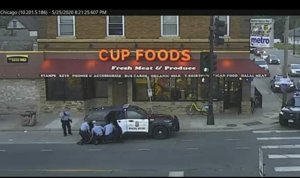 George Floyd Officers Civil Rights In this May 25, 2020 file image from surveillance video, Minneapolis police Officers from left, Tou Thao, Derek Chauvin, J. Alexander Kueng and Thomas Lane are seen attempting to take George Floyd into custody in Minneapolis, Minn. (Court TV via AP, Pool, File) (POOL)