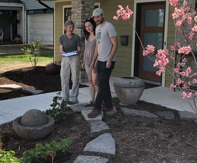 Courtesy Mo Palmer, left, of Urban Digs, urges homeowners to consult with a professional before starting landscaping projects.