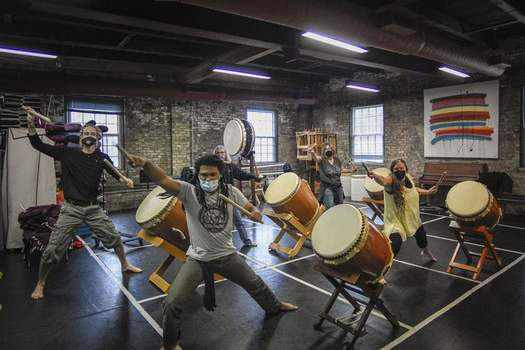 Photos by Mike Moore | The Journal Gazette The Fort Wayne Taiko Drum Corps, now part of the Fort Wayne Dance Collective, had humble beginnings 20 years ago.