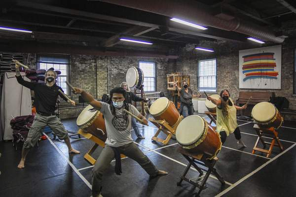 Photos by Mike Moore   The Journal Gazette The Fort Wayne Taiko Drum Corps, now part of the Fort Wayne Dance Collective, had humble beginnings 20 years ago.