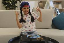 Dubai Youngest DJ Associated Press Michelle Rasul, a 9-year-old girl from Azerbaijan who lives in Dubai, is scratching her way to the top as a DJ after competing in the DMC World DJ Championship. (Kamran JebreiliSTF)
