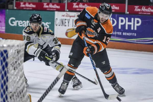 Mike Moore   The Journal Gazette Komets forward Anthony Petruzzelli in the first period against Wheeling on Wednesday.