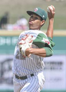Michelle Davies   The Journal Gazette TinCaps' Anderson Espinoza started off pitching against Lake County Sunday afternoon at Parkview Field.  (Michelle Davies)