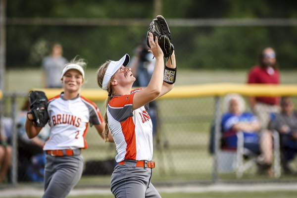 Mike Moore | The Journal Gazette Northrop left fielder Alexis Key makes a catch in the third inning against Columbia City during the regional championship at Northrop High School on Tuesday.