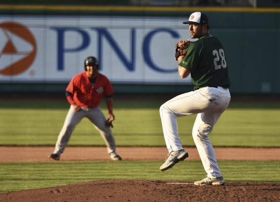 Katie Fyfe | The Journal Gazette  TinCaps pitcher Matt Waldron delivers during the fifth inning against the Kernels at Parkview Field on Friday.