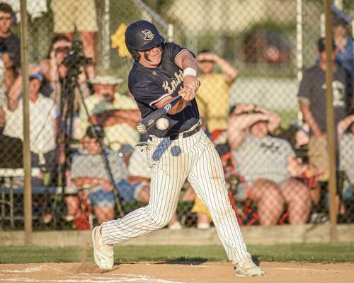 Mike Moore | The Journal Gazette Norwell sophomore Brody Bolyn at bat in the first inning against Leo during the regional championship at Bellmont High School on Saturday.