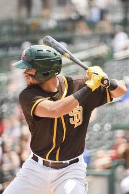 Katie Fyfe | The Journal Gazette  The TinCaps' Justin Lopez takes hisbatting stance during the second inning against the Kernels at Parkview Field on Sunday.