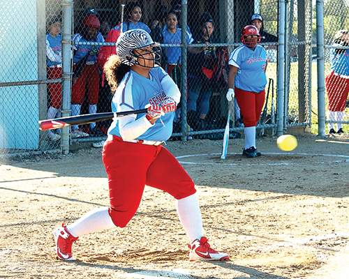 Courtesy photo In addition to her varied high school activities, Corynna Hurtado is also a softball player.