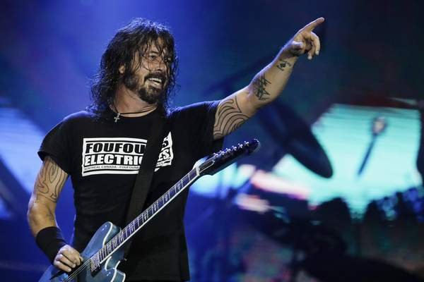 FILE - In this Sept. 29, 2019, file photo, Dave Grohl of the band Foo Fighters performs at the Rock in Rio music festival in Rio de Janeiro, Brazil. The band will perform at Madison Square Garden on June 20. (AP Photo/Leo Correa, File)