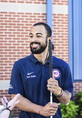 Katie Fyfe | The Journal Gazette Zach Buhler of Huntington will compete on the U.S. goalball team at the Tokyo Paralympics this year.