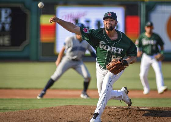 Mike Moore   The Journal Gazette TinCaps pitcher Matt Waldron pitching in the first inning against Lake County at Parkview Field on Thursday.