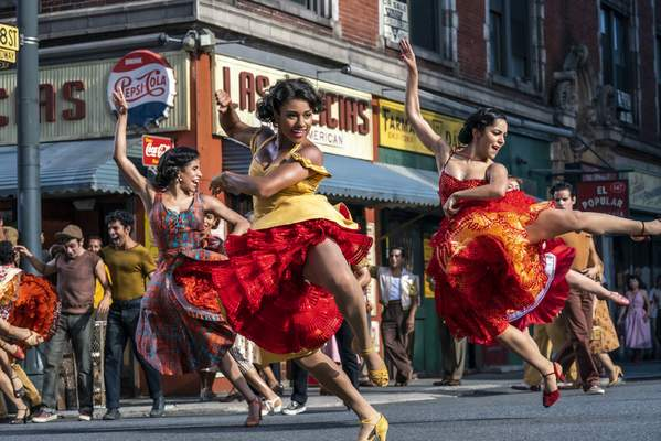 This image released by 20th Century Studios shows Ariana DeBose as Anita in a scene from West Side Story. (Niko Tavernise/20th Century Studios via AP)