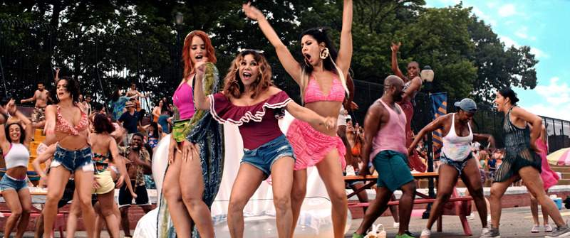 This image released by Warner Bros. Pictures shows a scene from In the Heights. (Warner Bros. via AP)