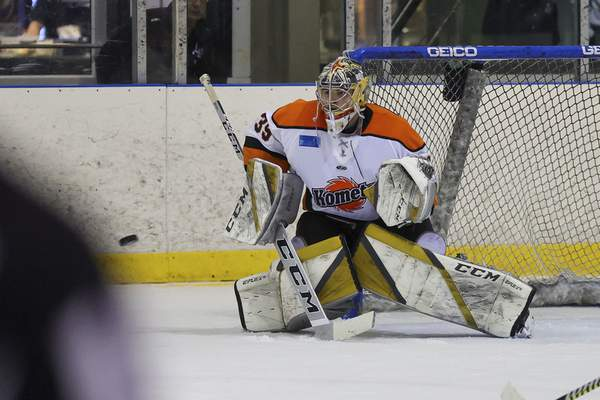 Ed Bailey | Wichita Thunder The Komets' Dylan Ferguson has stopped 91.8% of shots he's faced in the series.
