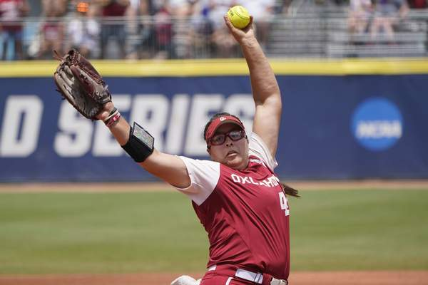 Associated Press Oklahoma pitcher Giselle Juarez threw a complete game Wednesday and went 5-0 in the Women's College World Series.