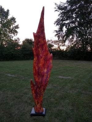 """""""Autumn"""" by Greg Mendez and Neil Wiffill is part of this year's Decatur Sculpture Tour."""