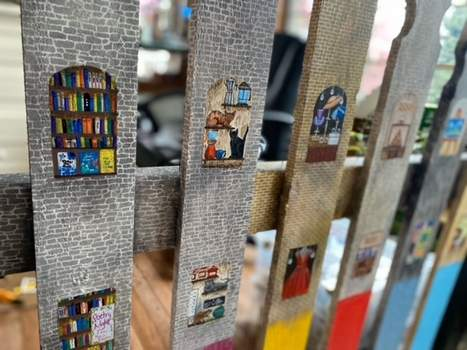 """Courtesy """"At the Corner of Past and Progress"""" by Jessica L.D. Greeneand Shaun Greeneis among the fence installations that will be installed in downtown Auburn next week."""