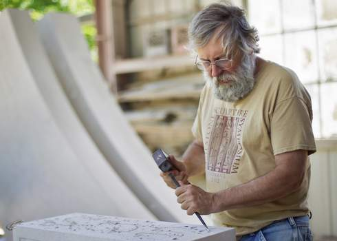 Courtesy photos Hoosier artist Dale Enochs will install a large sculpture outside Fort Wayne Museum of Art this summer. (Kip May)