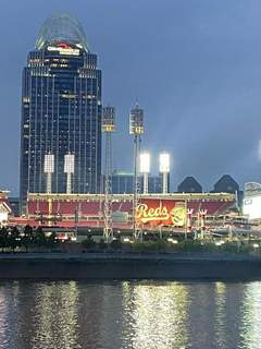 Lisa Green | The Journal Gazette A dinner cruise on the Ohio River in Cincinnati offers a glimpse of the Reds' baseball stadium.