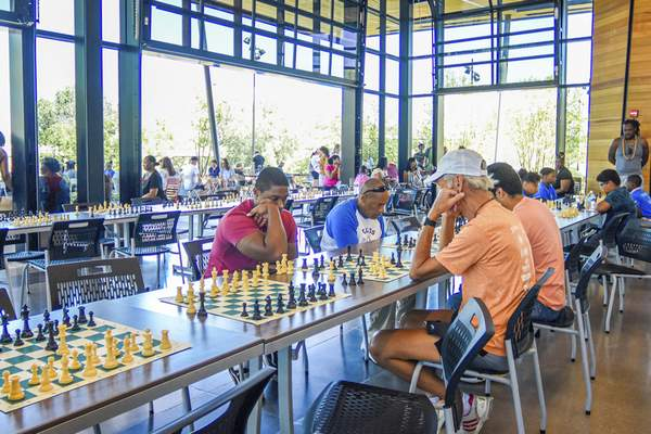 About 150 chess sets were set up around Promenade Park for friendly games as well as a final tournament.