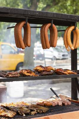 Food from Rib King is displayed Saturday at the 24th annual BBQ  Ribfest  at Headwaters Park.