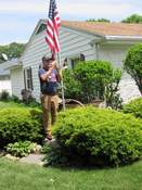 Rod King | For The Journal Gazette Vince LaBarbera plays taps on Memorial Day. He is a charter member of the Fort Wayne Area Community Band and volunteered in high school to play the haunting melody for veterans' funerals.