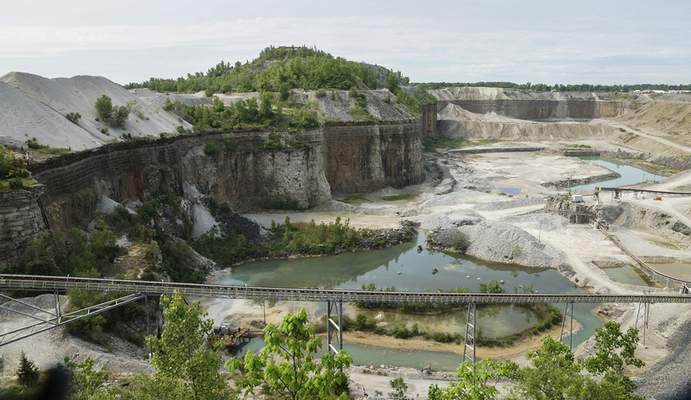 File photos Visitors can peer into the Hanson Ardmore Quarry from the observation tower above.