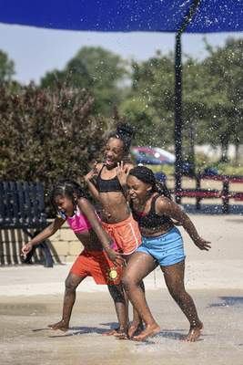 Kreager Park is one of the many splash pads offered throughout the city. And the best thing? It's free.