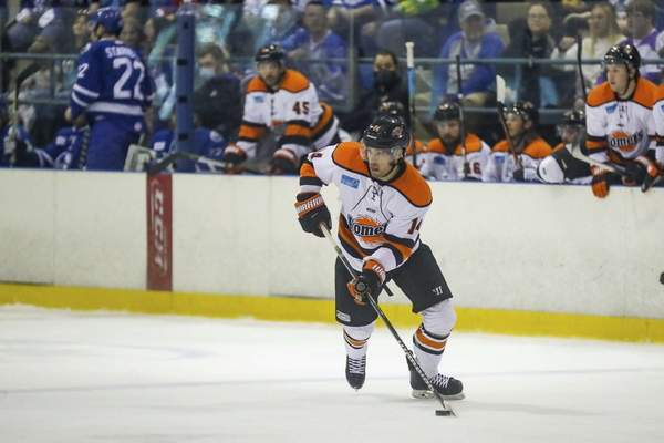 Ed Bailey   Wichita Thunder  Komets forward Anthony Nellis leads the ECHL in playoff scoring with seven goals and 12 points.