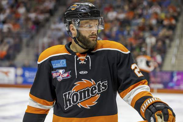 Josh Gales   Special to The Journal Gazette  Shawn Szydlowski had two goals and 11 points in nine playoff games with the Komets this year.