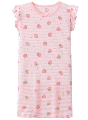 Recalled Auranso Official children's nightgown - short sleeves, pink with pink stripes.