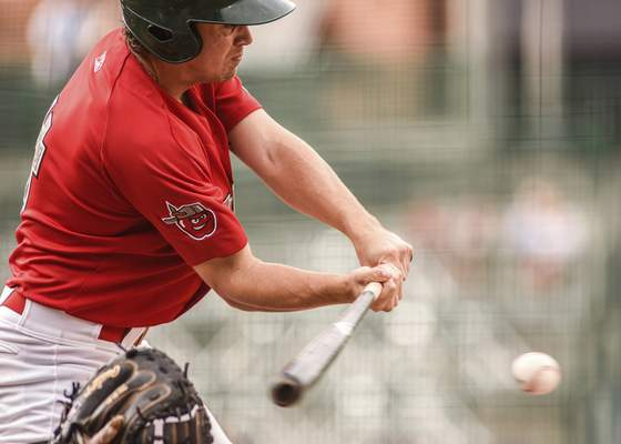 Mike Moore   The Journal Gazette TinCaps second baseman Chris Givin makes contact with the ball in the first inning against Lake County on Wednesday.
