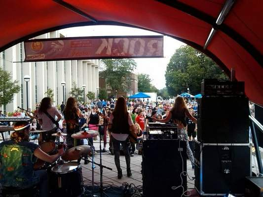 File Rock the Plaza will return to the Allen County Public Library for three Saturdays in August.