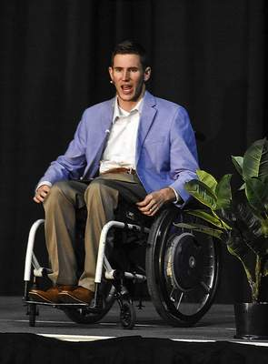 Michelle Davies | The Journal Gazette Chris Norton was the featured speaker at Turnstone's Start Strong: Limitless Possibilities breakfast Friday morning.