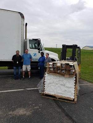 Zimmer Biomet recently donated about 2,000 bars of density medical grade polyethylene to Ivy Tech Warsaw.