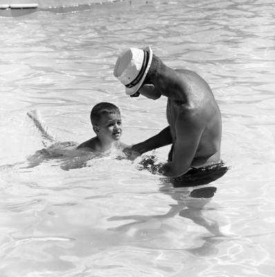 June 17, 1966: After a few minutes in the pool, many kids feel pride at the accomplishment. (Journal Gazette file photo)