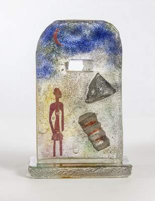 """Carl Beling's sand-cast glass sculpture """"Moon Walk"""" is among 32pieces recently donated to the museum."""