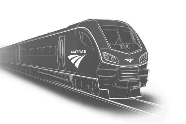 Siemens This image provided by Siemens shows a rendering of one of the new Amtrak trains to be built in the U.S. by Siemens Mobility.