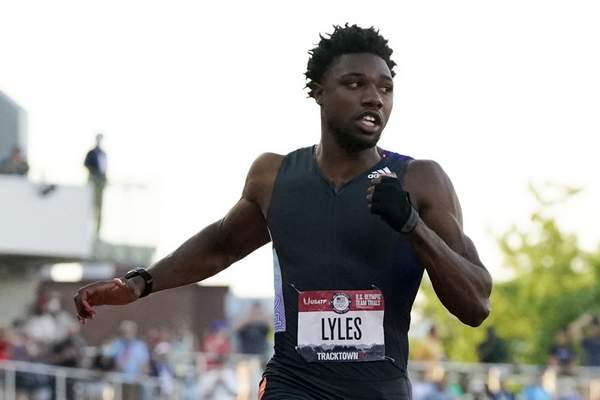 Associated Press In a subtle gesture at the U.S. Olympic Track and Field Trials last month, 100-meter sprinter Noah Lyles wore a black glove and raised his fist when he was introduced before the race.