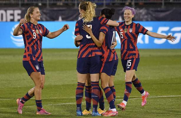 Associated Press The United States women's soccer team kicked off play at the Tokyo Olympics early today. The world's top-ranked team and the favorite to win another gold medal opened against Sweden at Tokyo Stadium.
