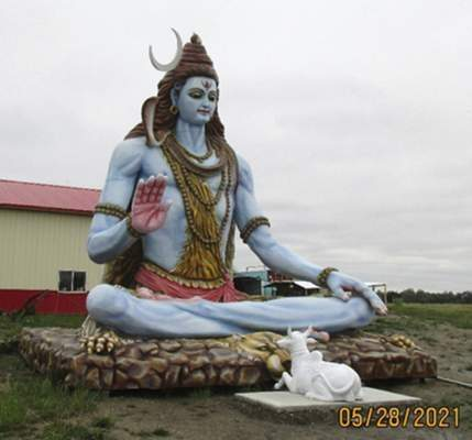 Courtesy Allen County Board of Zoning Appeals unanimously approved the variance for a 27-foot-tall statue of a Hindu deity at the site of the Omkaar Temple in Allen County.