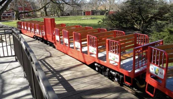 Courtesy A wheel on the Fort Wayne Children's Zoo's train ride came off the track Wednesday, but the train did not fall over and no one was hurt. Executive Director Rick Schuiteman expects it to re-open after a state inspector's report.