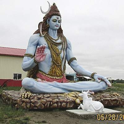 Courtesy A17-foot-tall statue of a Hindu deity is permitted to remain at a Lake Township temple under a zoning variance issued Wednesday.